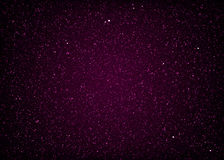 Glittering purple starry cosmic space Stock Image
