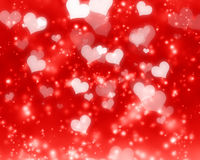 Glittering red background. With some smooth lights and sparkles Stock Illustration