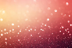 Glittering red lights background. Royalty Free Stock Photos