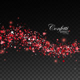 Glittering red stream of sparkles. Royalty Free Stock Photography