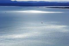 Glittering sea coastal landscape Stock Photos