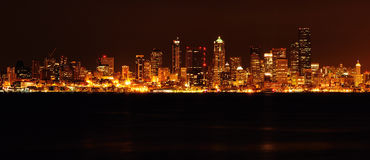 Glittering Seattle downrtown Stock Image