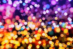 Abstract blurred and silver glittering shine bulbs lights background:blur of Christmas wallpaper decorations concept.holiday festi. Glittering shine bulbs lights Royalty Free Stock Photo
