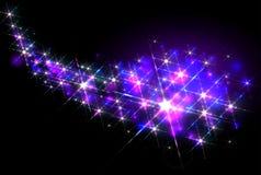 Glittering shining stars trail Royalty Free Stock Photos