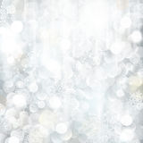 Glittering silver Christmas background Royalty Free Stock Image