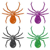 Glittering Spiders Stock Photography
