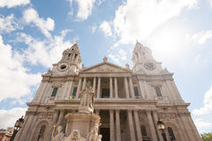 Glittering St. Paul's Cathedral in London. England royalty free stock photo