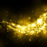 Glittering star dust field bokeh Stock Images