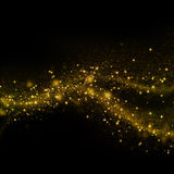 Glittering star dust field bokeh Royalty Free Stock Photos