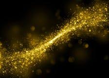Glittering star dust field bokeh Royalty Free Stock Photos