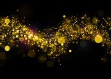 Glittering star dust field bokeh Royalty Free Stock Photo