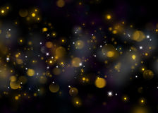 Glittering star dust field bokeh Stock Photography