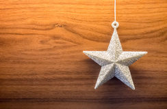 Glittering star ornament Royalty Free Stock Image