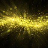 Glittering stars on bokeh background Stock Image
