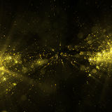 Glittering stars on bokeh background Royalty Free Stock Photography