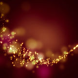 Glittering stars on bokeh background Stock Images