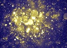 Glittering stars on bokeh background Stock Image