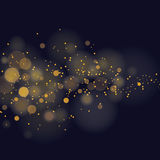 Glittering stars on bokeh background. Vector glittering stars on bokeh background Royalty Free Stock Photo
