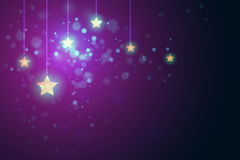 Glittering stars on bokeh background vector illustration Royalty Free Stock Photography