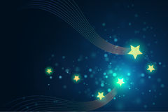 Glittering stars on bokeh background vector illustration. For use as christmas holiday graphic design project vector illustration