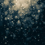 Glittering stars on bokeh background Royalty Free Stock Photo