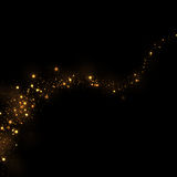 Glittering stars dust trail and bokeh background.Magic abstract Stock Photo