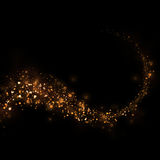Glittering stars dust trail and bokeh background.Magic abstract Royalty Free Stock Photography