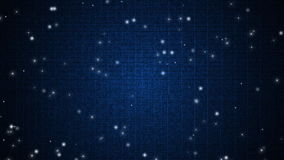 Glittering stars in motion on blue dots background stock video footage