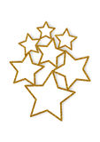 Glittering stars multiple frames. Multiple on white background Stock Images