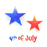 Glittering Stars for 4th of July celebration. Creative glittering Stars in blue and red colors for 4th of July, American Independence Day celebration Stock Image
