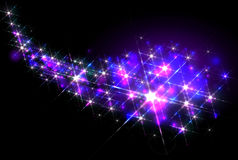 Glittering stars trail Royalty Free Stock Images