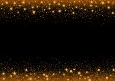 Glittering stars and trail of sparkling particles Stock Images