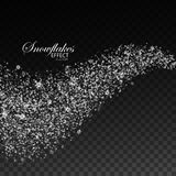 Glittering stream of sparkles. Stock Images