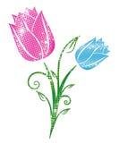 Glittering Tulips Stock Photos