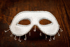 Glittering white mask Stock Images
