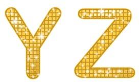 Glittering YZ Stock Image