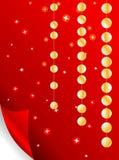 glittery бумажные звезды Стоковое Фото