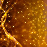 Glittery золотая праздничная предпосылка Стоковое Изображение RF