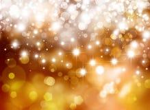 Glittery золотая праздничная предпосылка Стоковые Изображения RF