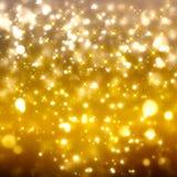 Glittery золотая праздничная предпосылка Стоковое Изображение
