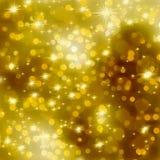 Glittery предпосылка рождества золота. EPS 8 Стоковые Фотографии RF