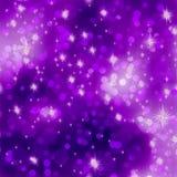 Glittery пурпуровая предпосылка рождества. EPS 8 Стоковое Изображение RF