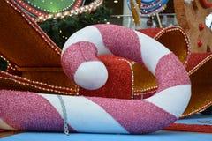 Κάλαμος καραμελών Glittery Στοκ Φωτογραφίες