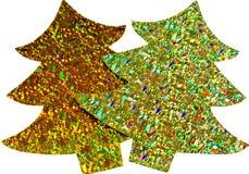 Glittery Ausschnitt Weihnachtsbäume Lizenzfreie Stockfotografie
