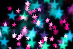 Glittery blur background. Blurred starry background in fancy colors Stock Photography