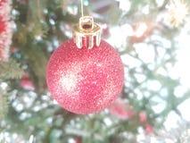 Glittery boże narodzenie dekoracja fotografia stock