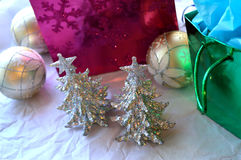Glittery Christmas decoration background royalty free stock images