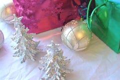 Glittery Christmas decoration background stock images