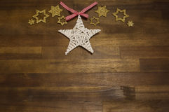 Glittery christmas decoration Stock Photo