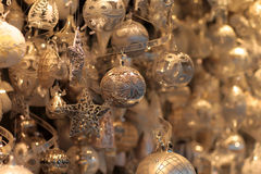 Glittery Christmas decorations Royalty Free Stock Photo
